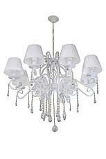 """Кованое бра  """"Версаль""""  с хрусталем и абажурами белое  на 2 лампы, фото 3"""