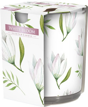 Свеча ароматизированная в стекле Bispol белое цветение 7,8 см (sn72s-42)