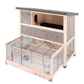 Двоповерхова дерев'яна клітка Ferplast Ranch 120 Max для кроликів