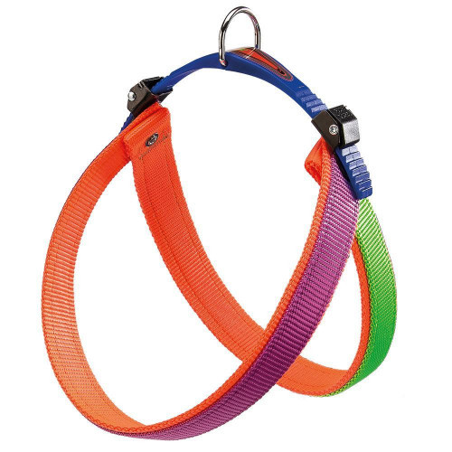 Ferplast Agila Colors 5 Purple-Orange шлейка из нейлона, для собак, 50x58 см