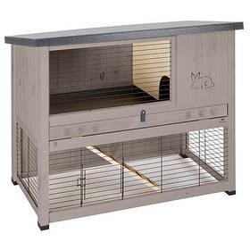 Двухуровневая клетка Ferplast Ranch 120 Basic Dove/grey для кроликов из северной сосны