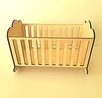 Кукольная кроватка из фанеры