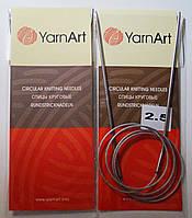 Спицы для вязания круговые на тросике YarnArt 100 см № 2,5