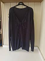 Фиолетовая батальная вязанка на пуговицах Cellbes, фото 1