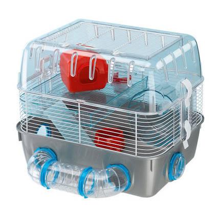 Клітка двоповерхова Ferplast Cage Combi 1 Fun для хом'яків з ігровою зоною, фото 2