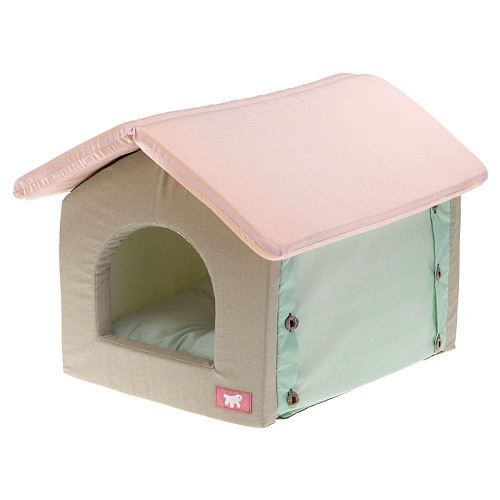 Мягкий домик Casetta Cotton Green для кошек, 36x46x40 см