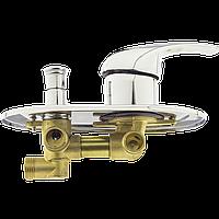 Змішувач душової кабіни (G 2-60mm) на два положення під гайку, в стійку душової кабіни.