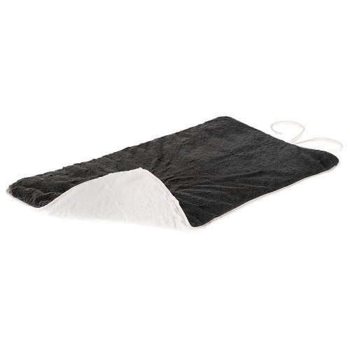 Двусторонний меховой ковер Nanna  85 Soft Blanket Black для собак и кошек, черный