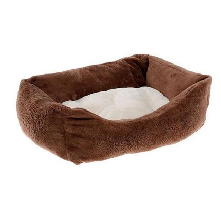 Меховой диван Coccolo 60 Soft Bedding Brown для кошек и собак, 66x50x20 см, фото 2