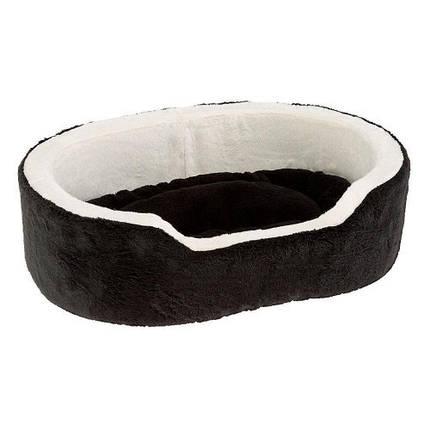 Хутряна ліжко Nido 50 Bedding Soft Black для собак і кішок, чорна, 50x35x15 см, фото 2