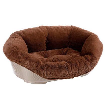Кровать Sofa' 2 Soft Brown для собак и кошек из термопластичной смолы, 52x39x21 см, фото 2