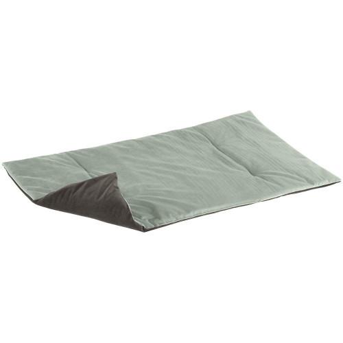 Двухгранная оксамитова підстилка Baron 95 Blanket Green Grey для кішок і собак, 95x60 см