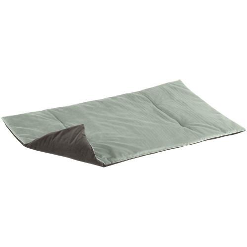Двухгранная оксамитова підстилка Baron 110 Blanket Green Grey для кішок і собак, 110x70 см
