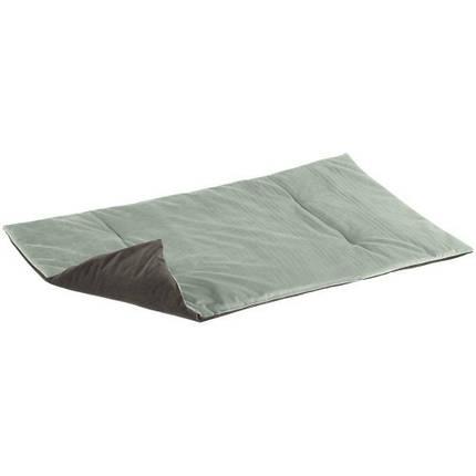 Двухгранная оксамитова підстилка Baron 110 Blanket Green Grey для кішок і собак, 110x70 см, фото 2