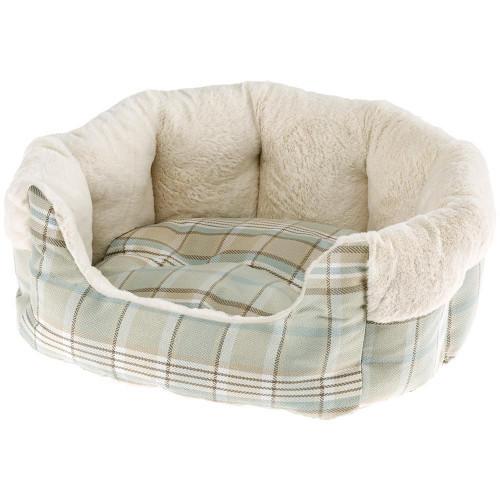 Меховой диван Etoile 4 Green Dogbed для собак и кошек, 60x50x21 см