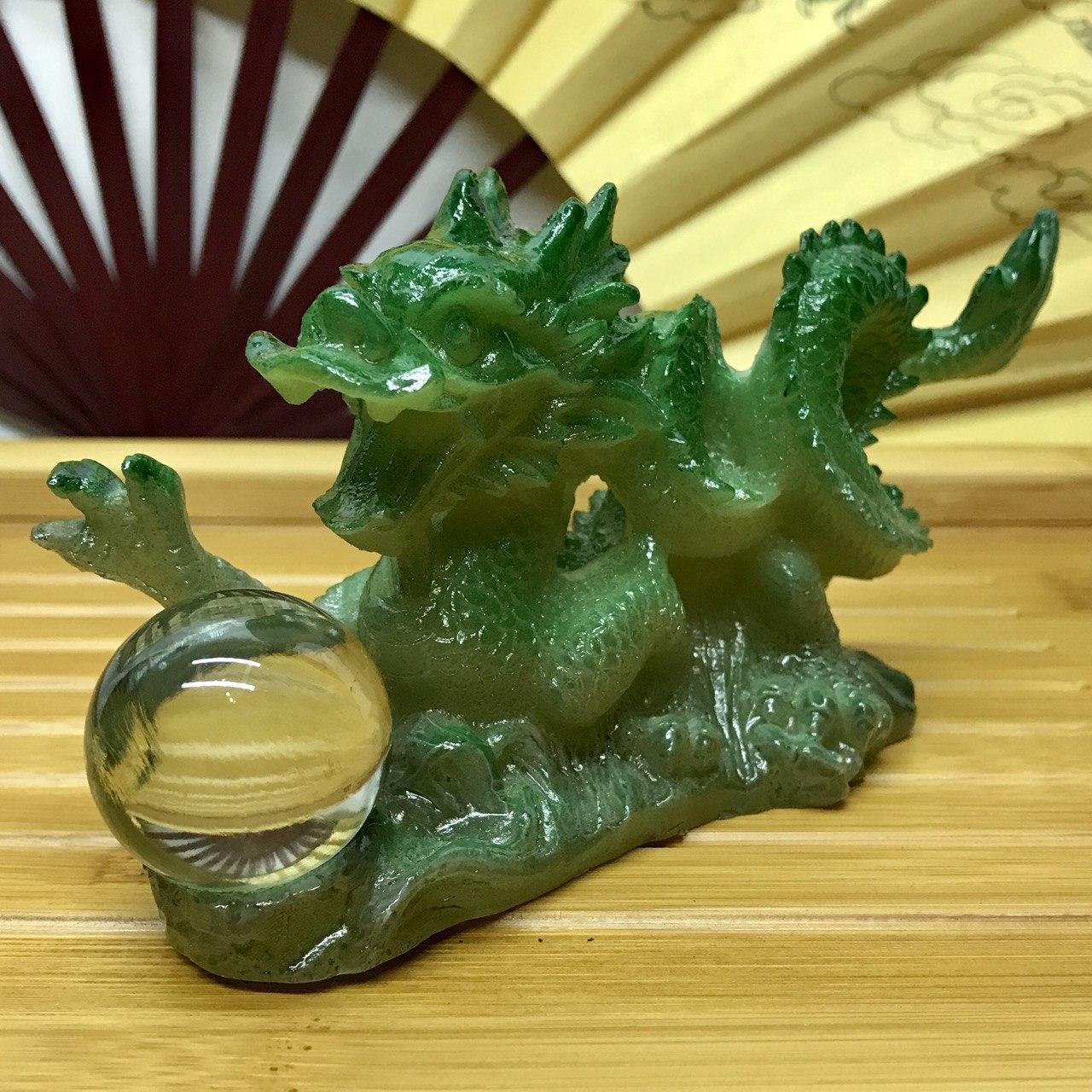 Фигурка аксессуар меняющая цвет Зелёный Дракон
