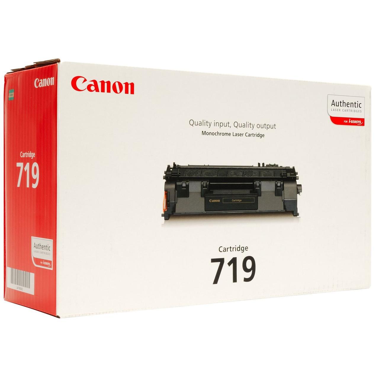 Тонер-картридж Canon 719 LBP-6300dn/6650dn/MF5580 Black 2100 страниц