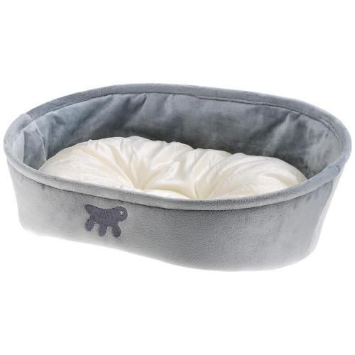 Лежанка с двухсторонней подушкой Laska 45 Grey Dogbed для кошек и собак, 45x34x16 см