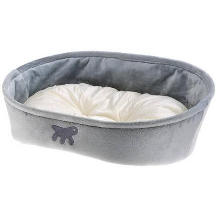 Лежанка з двостороннім подушкою Laska 65 Grey Dogbed для кішок і собак, 65x49x22,5 см, фото 2