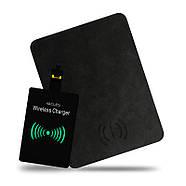 Беспроводное Зарядное Устройство (коврик для мышки) JETIX MousePad 3 Black с Qi-ресивером в подарок, фото 3