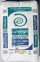 Белый цемент Helwan Cement I.DESIGN 52,5 N мешок 50 кг высший сорт марка 600 Египет