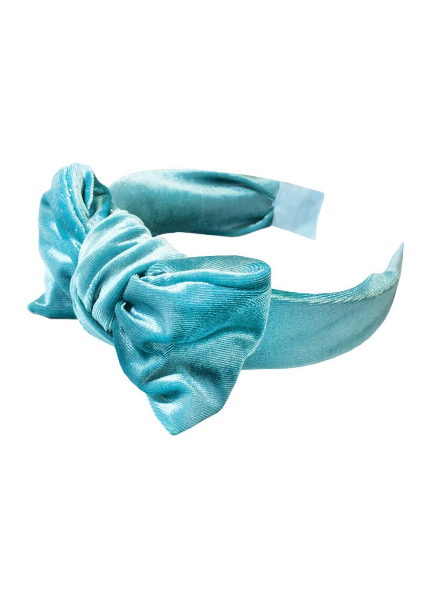 Стильный бархатный обруч-бантик для волос My Scarf