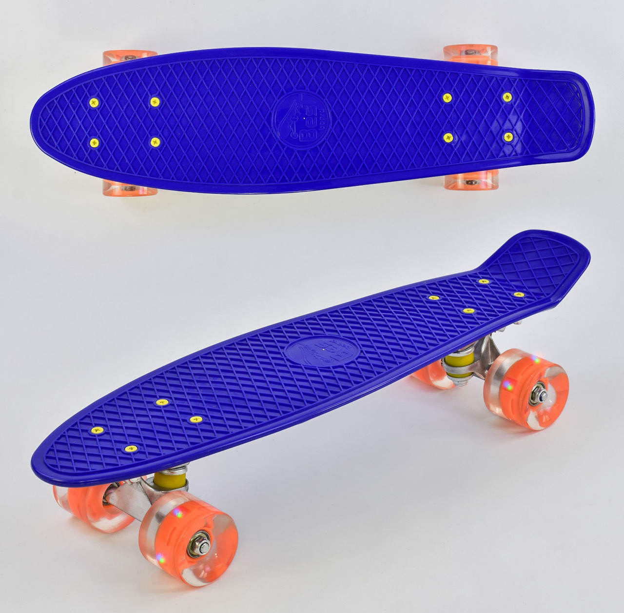 "Пенни борд скейт со светящимися колесами 22"" Best Board 7070 синий"