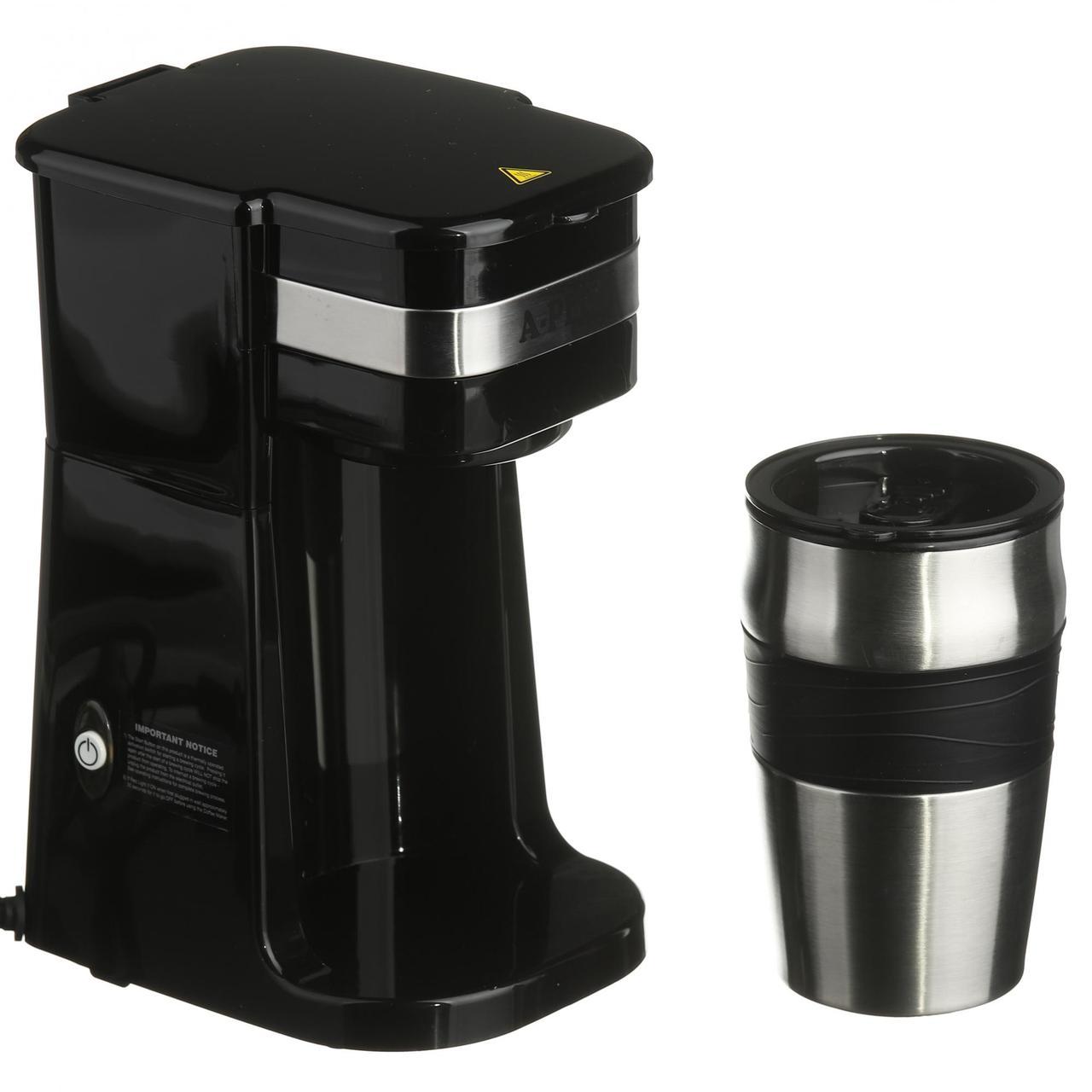 Кофеварка капельная электрическая + термостакан A-PLUS кофемашина капельного типа