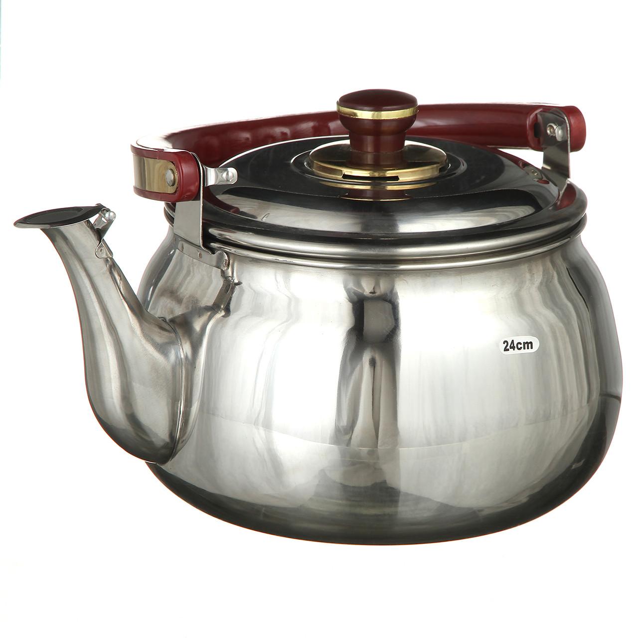Чайник со свистком музыкальный A-PLUS на 4.0 л нержавейка для плиты