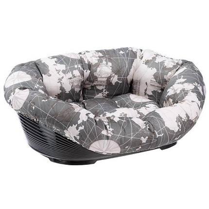 Пластиковый лежак Ferplast Sofa' 4 Triangle для собак и кошек в комплекте с подушкой, 64x48x25 см, фото 2