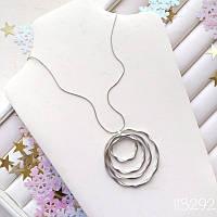 КОЛЬЕ SPIRAL silver, фото 1