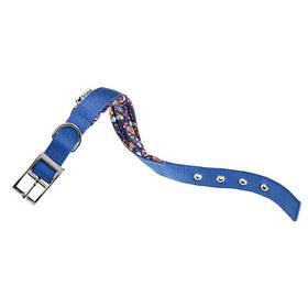 Нейлоновий нашийник Ferplast Daytona Fanasy C25/45 Blue для собак, синій, A: 37x45 см, B: 25 мм
