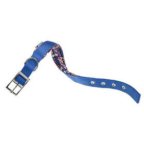 Нейлоновый ошейник Ferplast Daytona Fanasy C25/45 Blue для собак, синий, A: 37x45 см, B: 25 мм