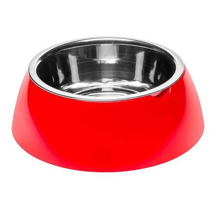 Ferplast Jolie Large Red Bowl металлическая миска для собак и кошек, 23,3 см, фото 2