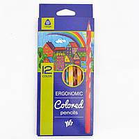 Олівці 12 кольорів Ergonomic, Yes (12)