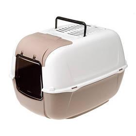 Закритий туалет Ferplast Toilet Home Prima Cabrio для кішок з відкидним люком, 52,5x39,5x38 см