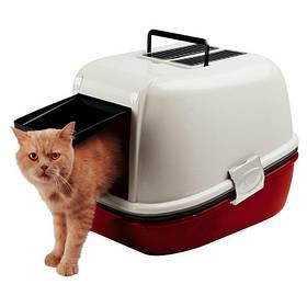 Закрытый туалет Ferplast Toilet Home Magix для кошек с системой просеивания, 45,5x55,5x41 см