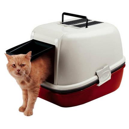 Закрытый туалет Ferplast Toilet Home Magix для кошек с системой просеивания, 45,5x55,5x41 см, фото 2