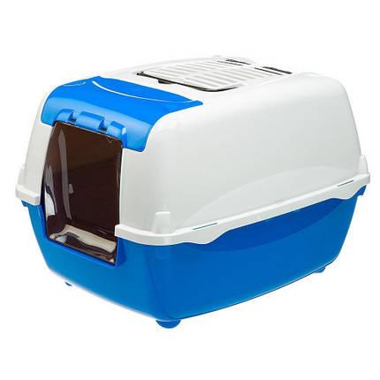 Лоток з відкидним люком і більш високим підставою Ferplast Toilet Home Bella Cabrio для кішок, 43,5x56x38 см, фото 2