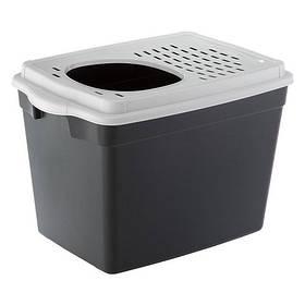 Закритий туалет Ferplast Toilet Home Jumpy для кішок з верхнім входом, 38,8x57,5x9 см