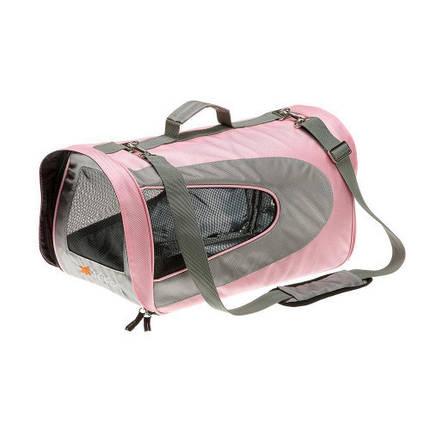 Мягкая переноска Ferplast Beauty для мелких собак, нейлон, розовая, 45×28×28 см, фото 2