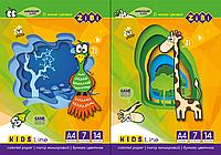 Набір кольорового паперу А4 14 арк Zibi