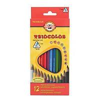 Олівці 12 кольорів Triocolor, K-I-N