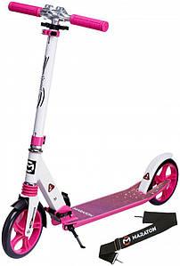 Самокат двухколесный Maraton Sprint Розовый большие колеса