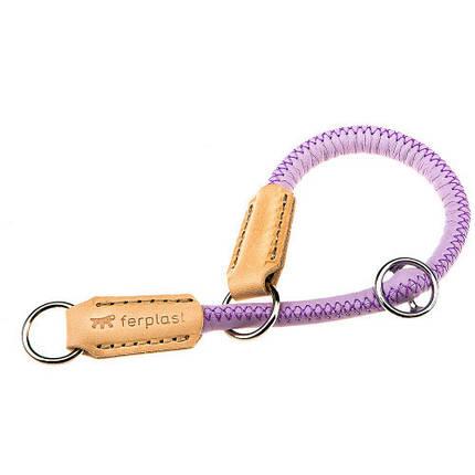 Ошейник-полуудавка Ferplast Derby CS10/35 Purple для собак из эко-кожи, черная, A: 35 см, 10 мм, фото 2