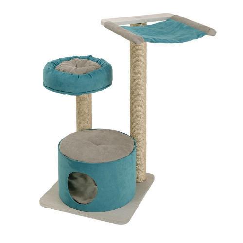 Ferplast Cat Tree Jago игровой комплекс для кошек с полочками, спальным местом и колоннами, 50x50x94,5 см
