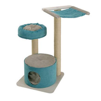 Ferplast Cat Tree Jago игровой комплекс для кошек с полочками, спальным местом и колоннами, 50x50x94,5 см, фото 2