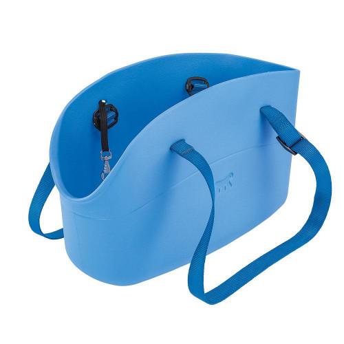 М'яка переноска Ferplast With-Me Bag Blue для дрібних собак до 8 кг, блакитна, 43.5×21.5×27 см