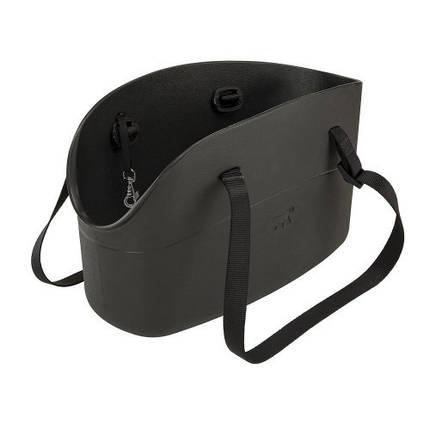 М'яка переноска Ferplast With-Me Bag Black для дрібних собак до 8 кг, чорна, 43.5×21.5×27 см, фото 2