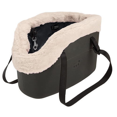 Мягкая сумка-переноска Ferplast With-Me Bag Winter Black для мелких собак до 8 кг, чёрная, 43.5×21.5×27 см